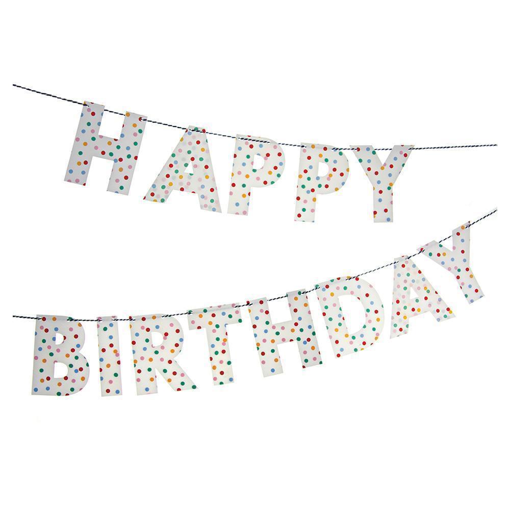 כרזות ושרשראות יום הולדת