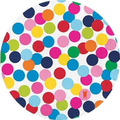 יום הולדת נקודות צבעוניות