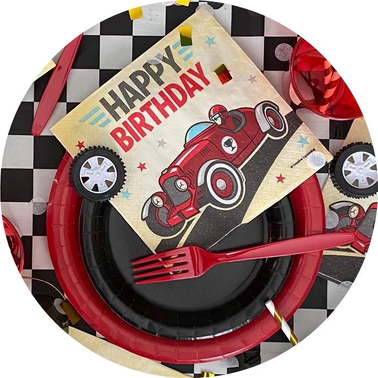 יום הולדת מירוץ מכוניות