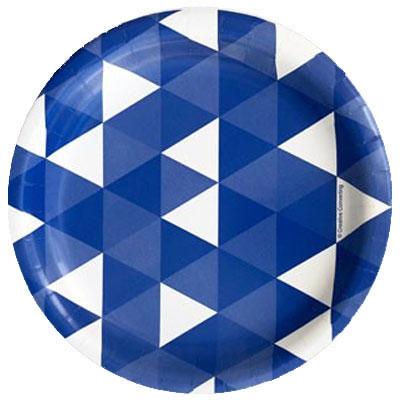 שולחן עצמאות משולשים כחול לבן
