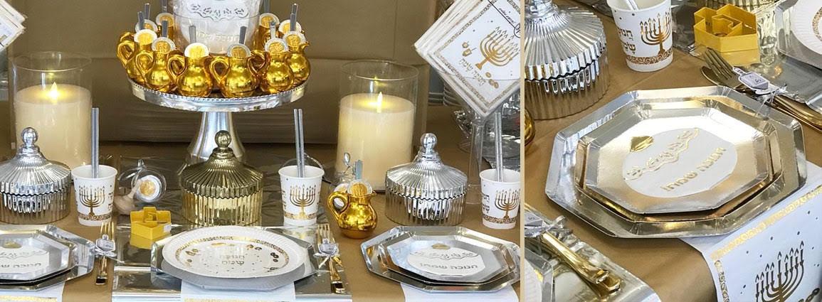 עיצוב שולחן לחג חנוכה