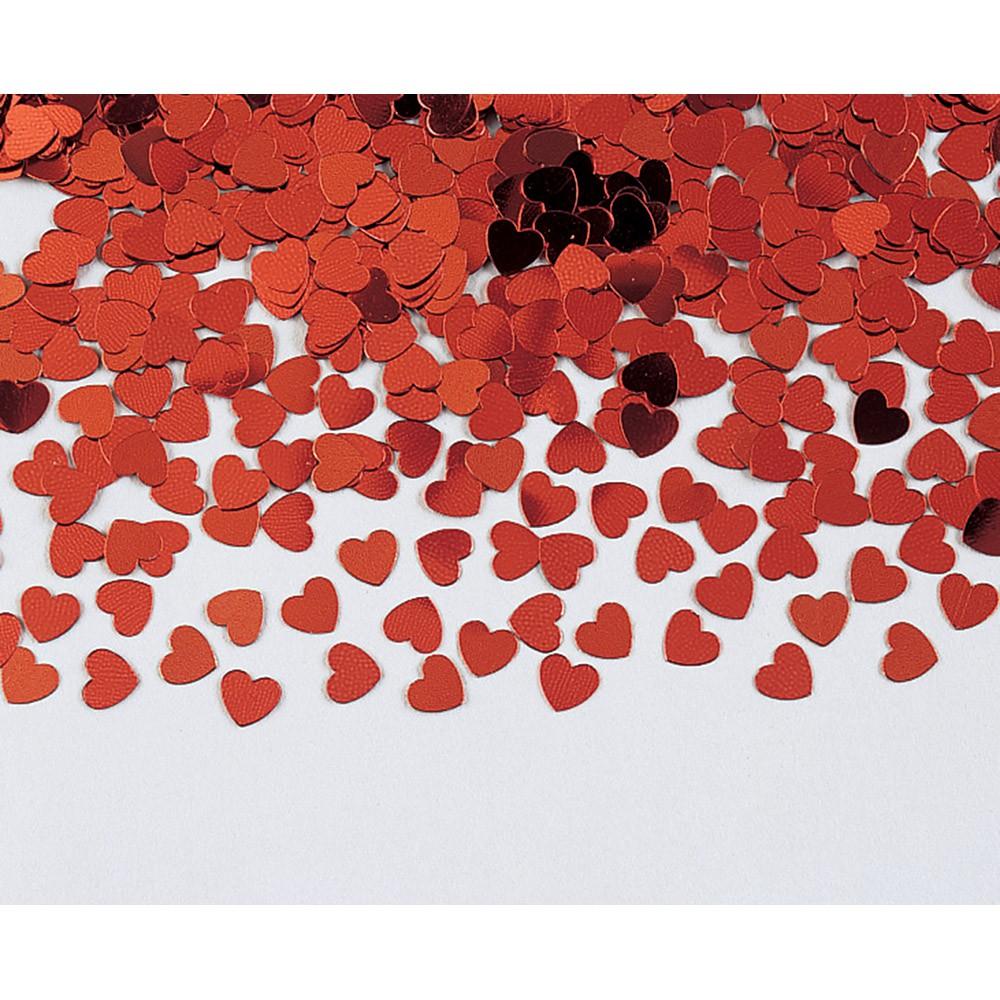 קונפטי לבבות אדום