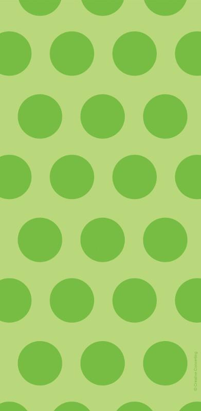 שקיות יום הולדת ניילון נקודות ירוק