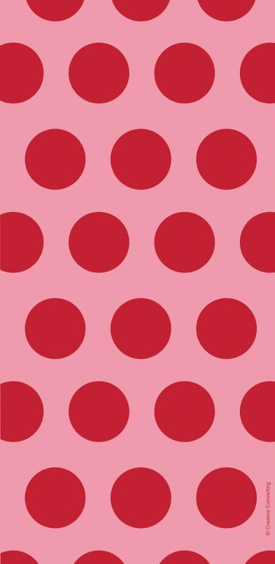שקיות יום הולדת ניילון נקודות אדום