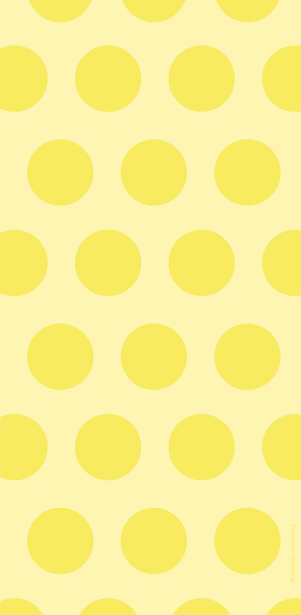 שקיות יום הולדת ניילון נקודות צהוב