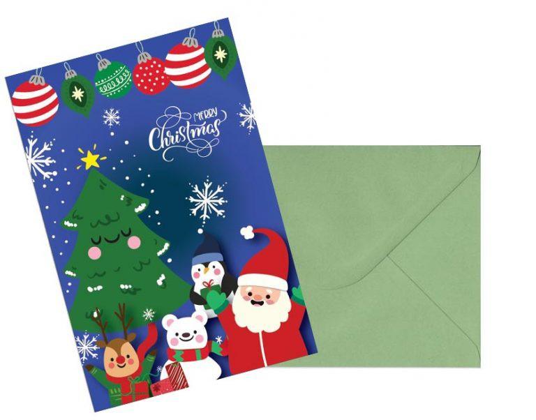 כרטיס ברכה לחג המולד