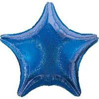 בלון אלומיניום הולוגרפי כוכב כחול