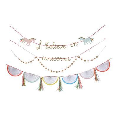 שרשרת חד קרן Meri Meri, Meri Meri, גרלנדה, שרשרת, שרשרת חד קרן, יום הולדת חד קרן, יום הולדת חד קרן, מסיבת יום הולדת חד קרן, יום הולדת, קישוטים למסיבה, קישוטים ליום הולדת חד קרן חד-קרן