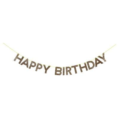 שרשרת Happy Birthday זהב נוצץ - Meri Meri, שרשרת Happy Birthday זהב נוצץ - Meri Meri, Meri Meri, שרשרת, קישוט יום הולדת, שרשרת Happy Birthday, זהב, קישוטים למסיבה, יום הולדת, מסיבת יום הולדת