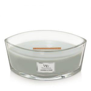 נר וודוויק אליפסה- ניחוח Lavender and Cedar