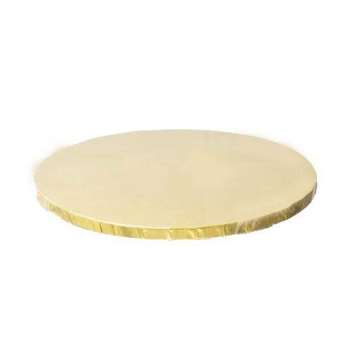 בסיס עגול מקרטון לעוגה- זהב