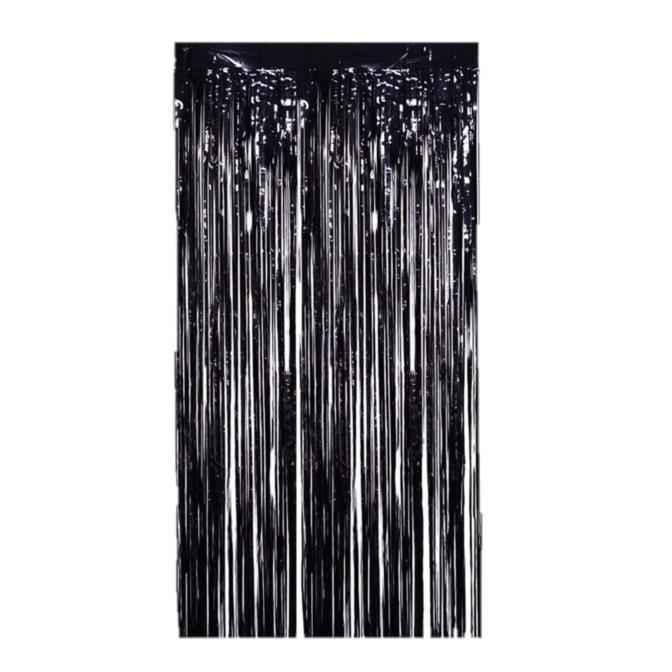 וילון פרנזים שחור