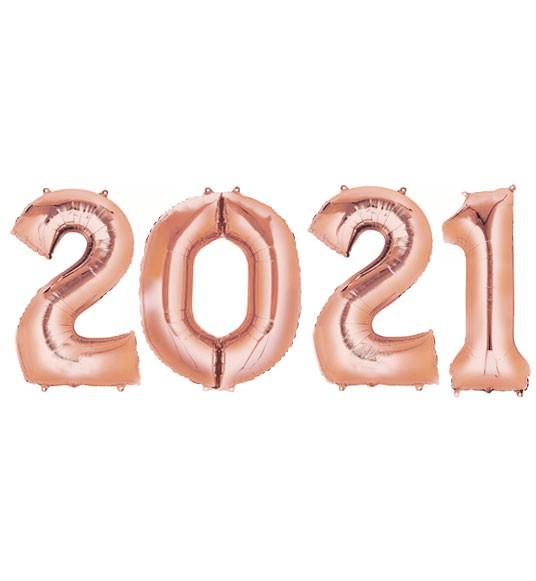 בלוני ענק 2021- רוז גולד