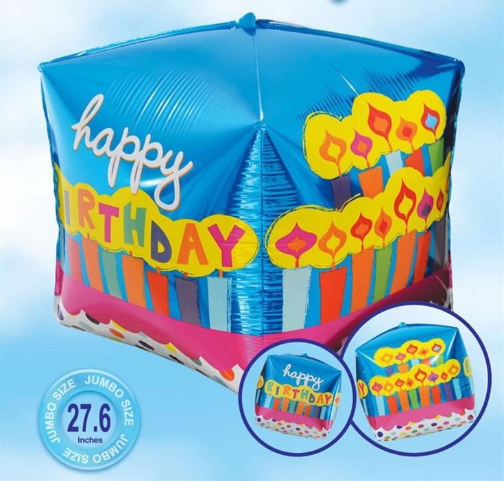 בלון מרובע Happy Birthday