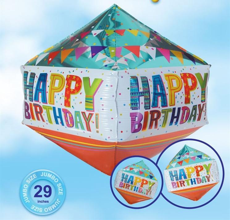 בלון מעוין Happy Birthday