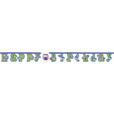 כרזת Happy Birthday ינשופים