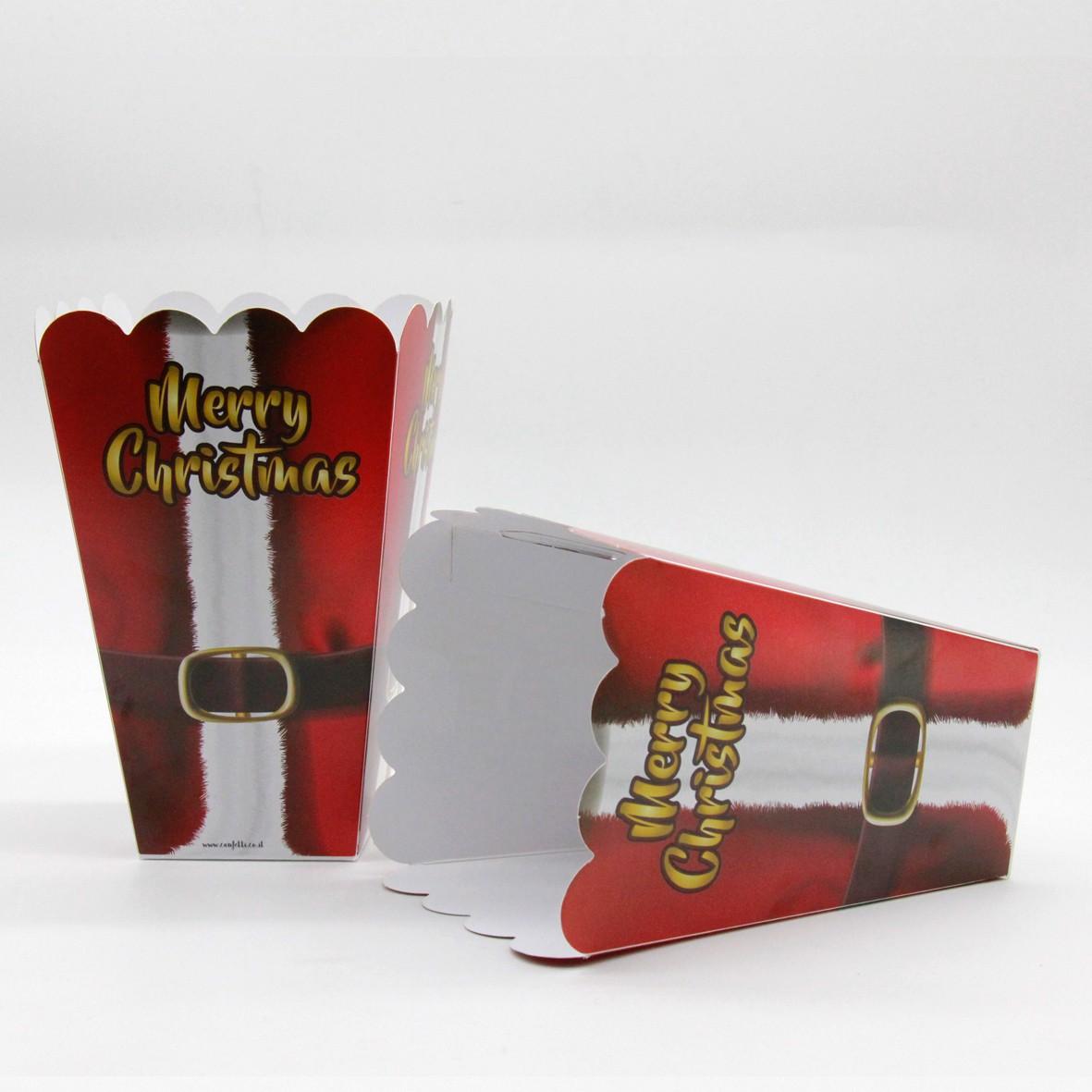 קופסאות פופקורן לחג המולד