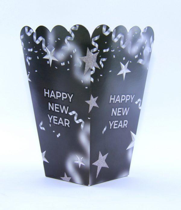 מארז קוספאות פופקורן Happy New Year.