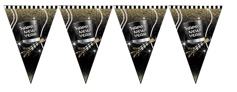שרשרת דגלים לקישוט Happy New Year.