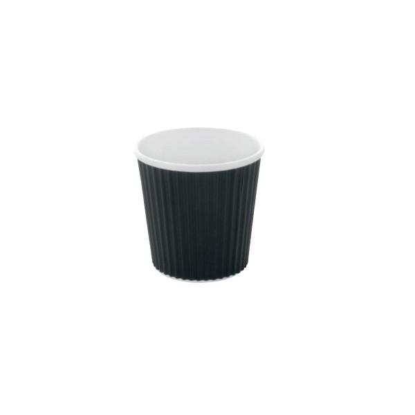 כוס קרטון שחורה קטנה מתכלה