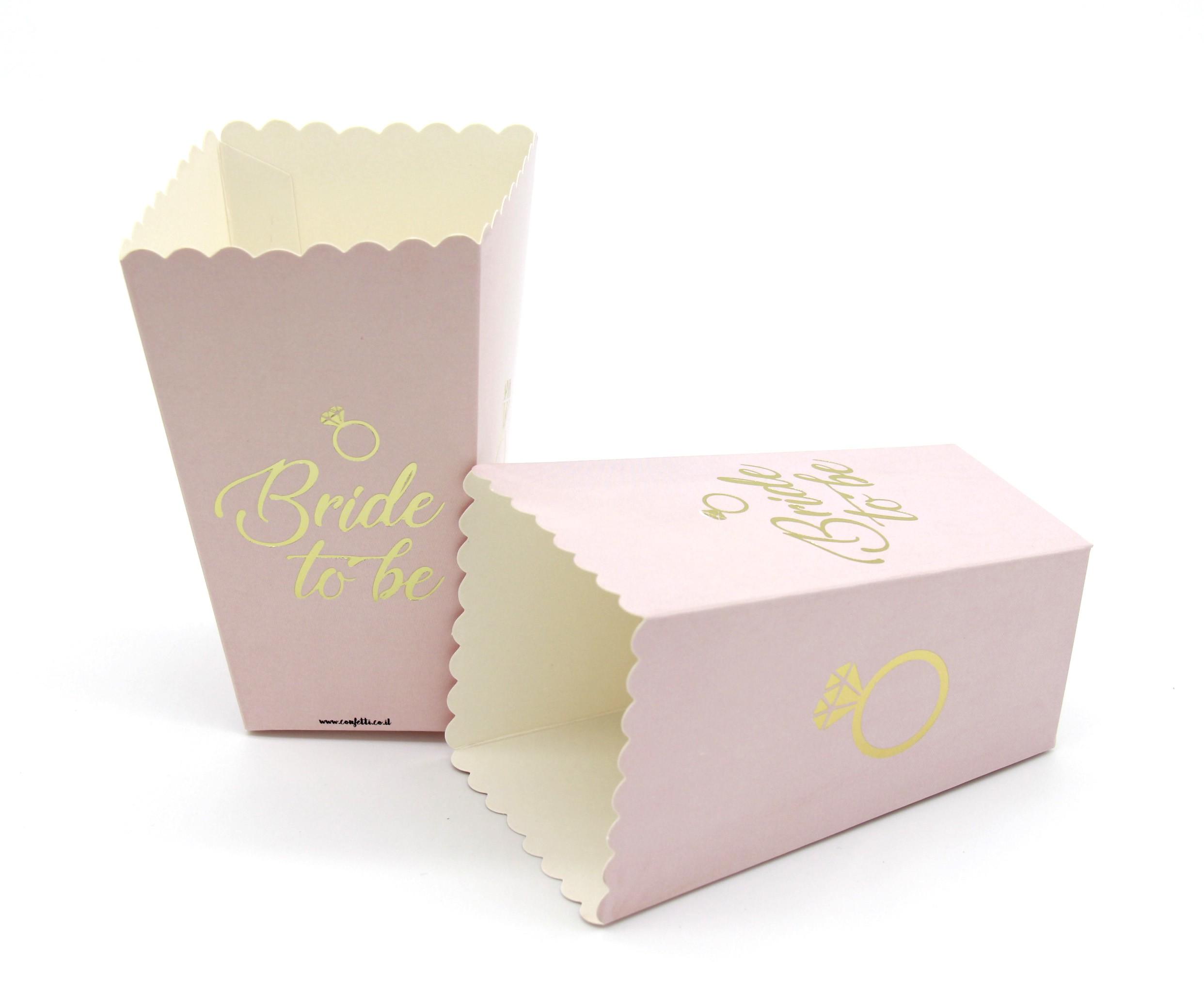 קופסאות פופקורן Bride To be