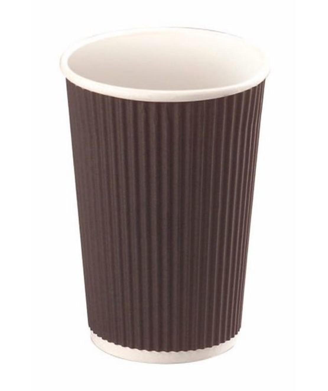 כוס קרטון שחורה גדולה מתכלה
