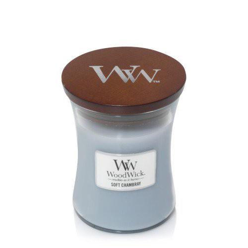 נר וודוויק שעון חול- ניחוח Soft chambray