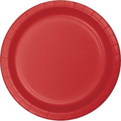 צלחות נייר גדולות- אדום