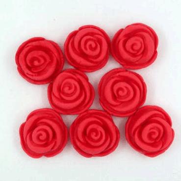 קישוט בצק סוכר פרחים ורדים אדום