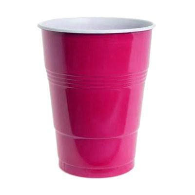 כוסות פלסטיק גדולות צבע ורוד