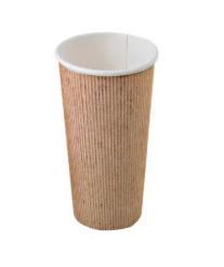 """כוס נייר טבעית 355 מ""""ל"""