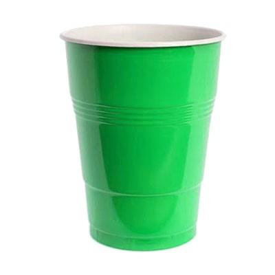כוסות פלסטיק גדולות צבע ירוק
