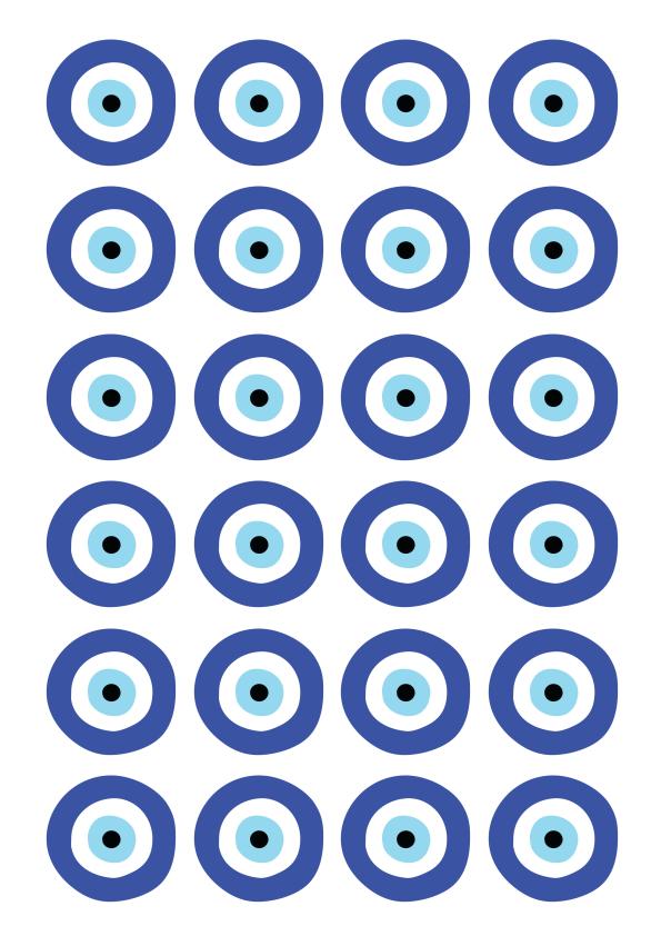 דף מדבקות מיתוג עין 3
