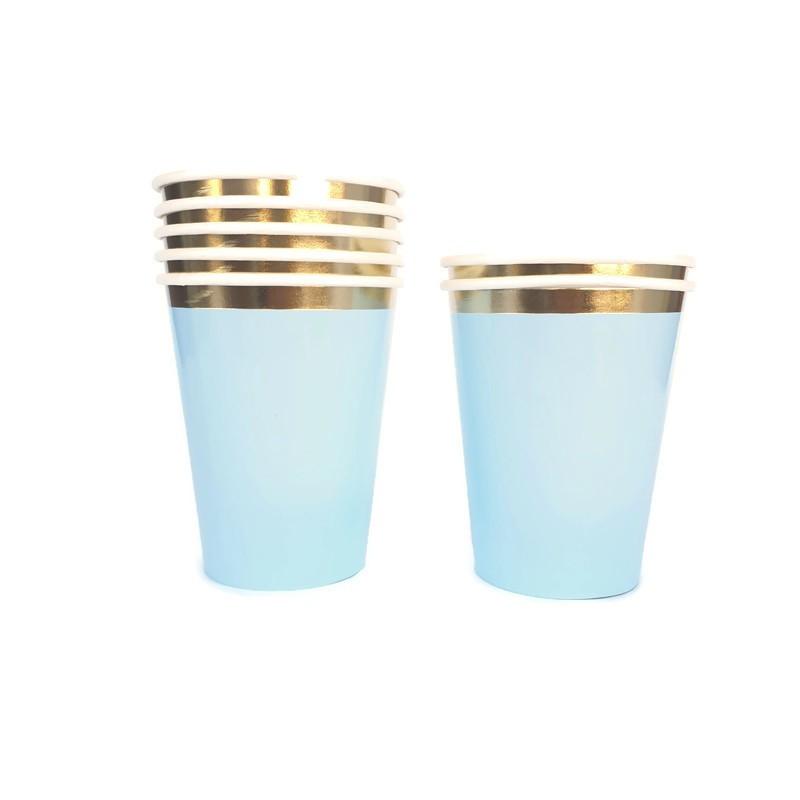 כוסות פס זהב
