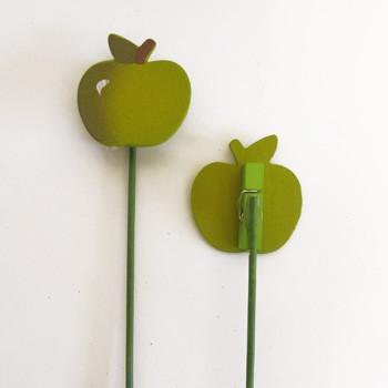 מקל+אטב תפוח ירוק