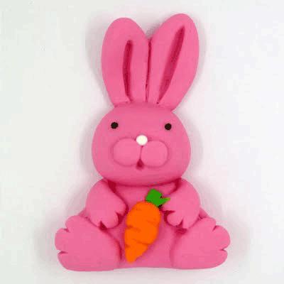 קישוט בצק סוכר - ארנב ורוד