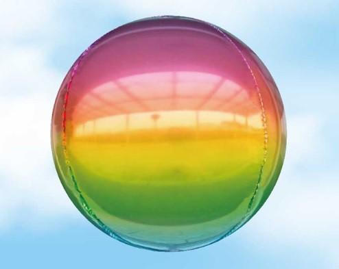 בלון הליום תלת מימד עגול צבעי הקשת