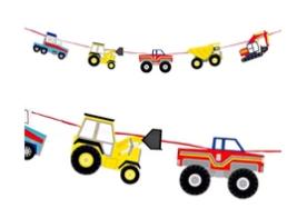 שרשרת טרקטורים - Meri Meri, Meri Meri, יום הולדת טרקטורים, מסיבת טרקטורים, עיצוב שולחן טרקטורים, טרקטור, טרקטורים, מסיבת יום הולדת בנושא טרקטורים, טרקטור, טרקטורים