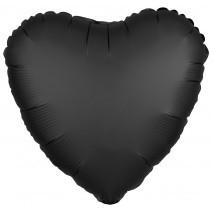 בלון אלומיניום לב שחור