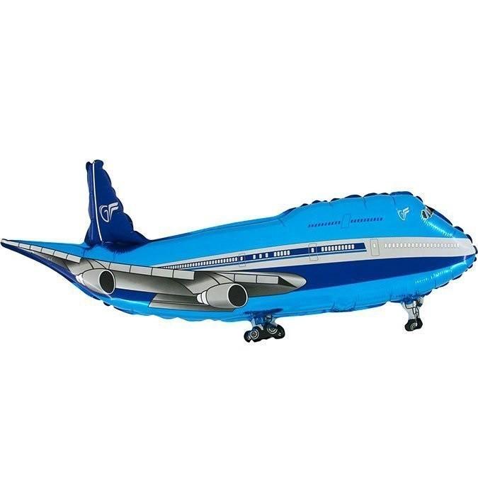 בלון מטוס כחול, בלון, מטוס, מטוס כחול, מסוסים, בלון מטוס, הליום, בלונים, בלון