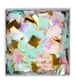 קונפטי מרובעים בצבעי אולטרה ופסטל - Meri Meri, Meri Mer, קונפטי, קישוט למסיבה, קישוטים למסיבה, סידור שולחן, מסיבת יום הולדת, פסטל, אולטרה