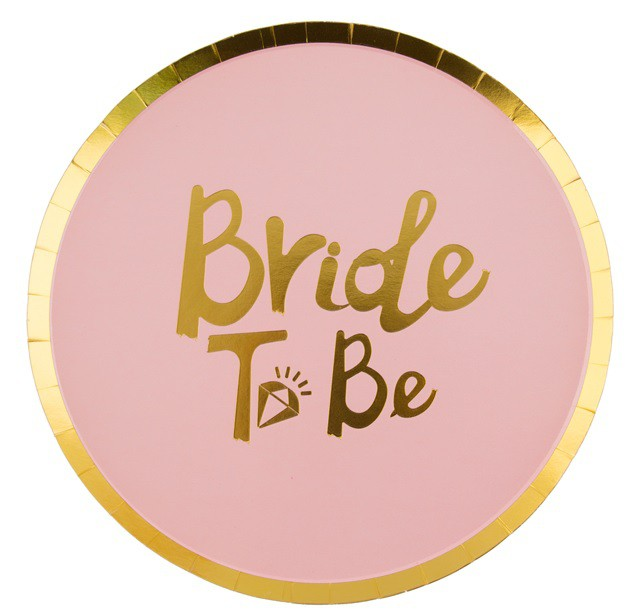 צלחות נייר Bride To Be