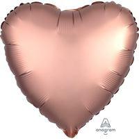 בלון אלומיניום לב רוז גולד