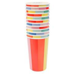 כוסות נייר גבוהות גלגל הצבעים - Meri Meri