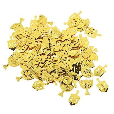 קונפטי חנוכה זהב, קונפטי, סביבון, סביבונים, קונפטי סביבון, קונפטי סביבונים, חנוכה, חנוכיה, קונפטי חנוכיה, קונפטי חנוכיות, זהב,