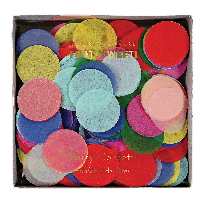 קונפטי עיגולי נייר צבעוניים - Meri Meri, Meri Mer, קונפטי, קישוט למסיבה, קישוטים למסיבה, סידור שולחן, מסיבת יום הולדת, צבעוני, קונפטי צבעוני