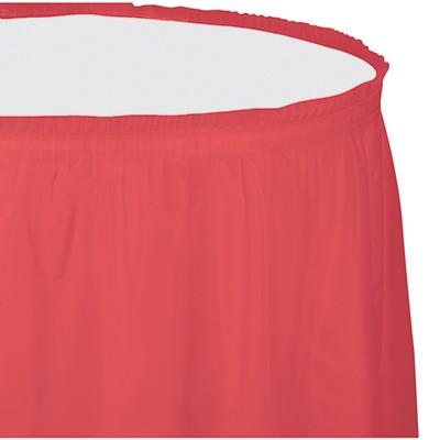 חצאית לשולחן אדום קורל
