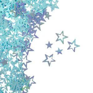 קונפטי כוכבים תכלת