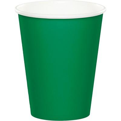 כוסות נייר ירוק אמרלד