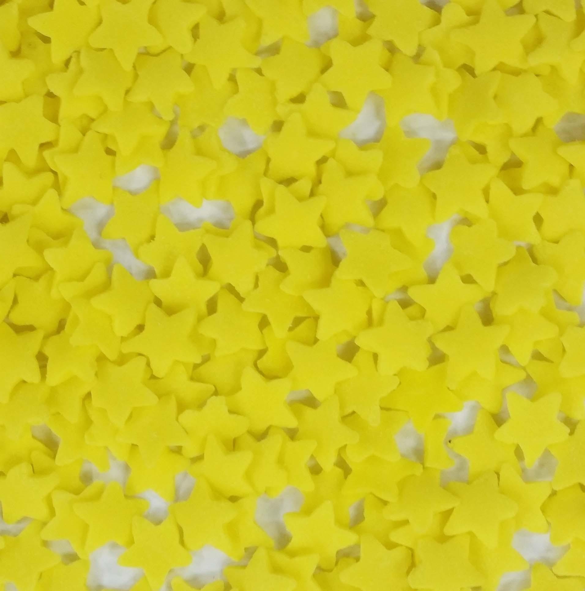 סוכריות לעוגה כוכבים צהובים גדולים